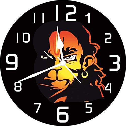 YaYa Cafe Shree Ram Bhakt Hanuman Sri Rama Navami Framed Wall Clock  Religious - 6 x 6 inches