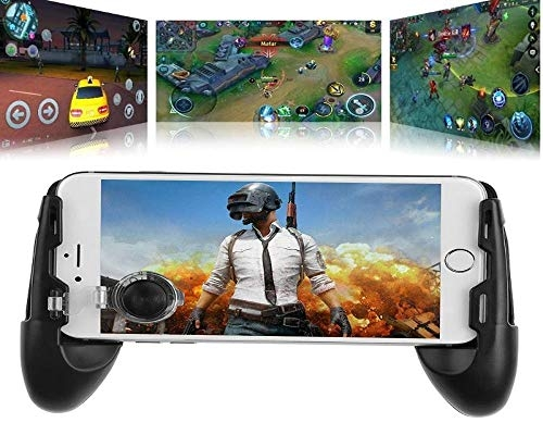 01A Smart Portable Mobile Phones Gaming Controller Handle Gamepad for Pubg Fortnite and Other Games Controlling Joystick Grip Extended Handle All Android Mobile Smart Phones