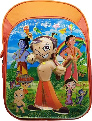 3D Chotta Bheem, Chota Bheem, Ben10 Benten Ben Ten, Spider Man, Spiderman, Supeman, Dorimon, Doraemon Waterproof Red School Bag Backpack For Boys/Girls Class Standard First 1st Second 2nd, Third 3rd, Fourth 4th Fifth 5th