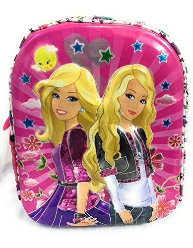 3D Sticker (Glow in Dark) Princess Polyester Multicolor School Bag (5-8 Years)