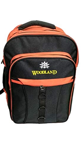 4B'S School Bags/Class 7th- 10th /College Backpack/15 Inch Backpack/College Backpack/Casual Used Backpack/Office Bags/Light Weight Bags/Multi-Purpose Bags/Stylish Backpacks (Black & Orange)