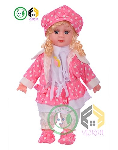 Aarushi Girl Pink Baby Doll,Multi Color and Radom Dress