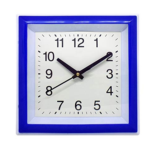 AASA and Fancy Look Square Shape Simple Wall Clock for Bedroom and Dining Room 20Grams Pack of 1 (M2)