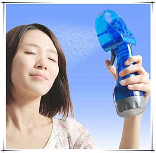 Absales Hand held mini ice water misting sprayer portable ice Water Spray fan by Absales