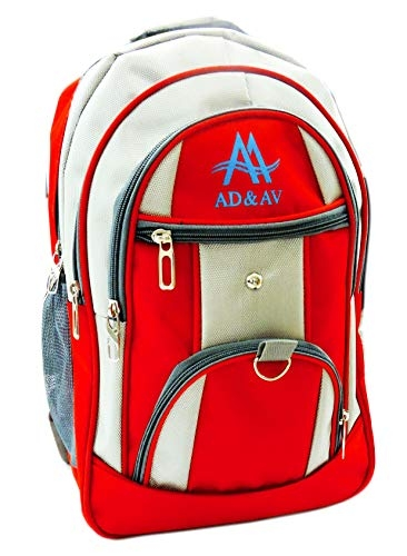 AD & AV School Bag ADAVBAG_101_RED_A
