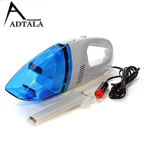 Adtala Handheld 12V Powerful Car Vacuum Cleaner Blue Color Cleaner Wet and Dry Vacuum Cleaner for Vehicle Dust Collector