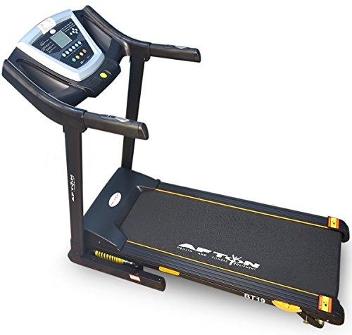 Afton BT-19 Steel Motorised Treadmill with Auto Lubrication, Adult (Black)