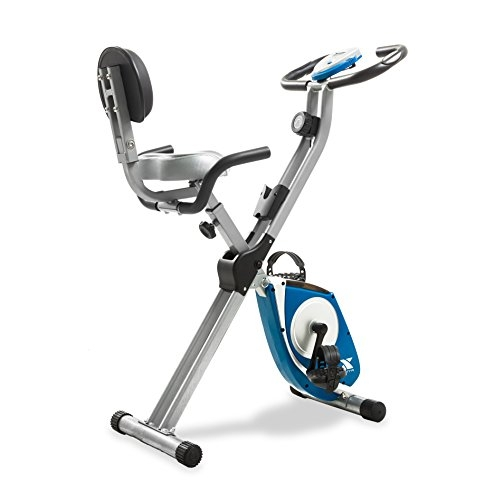 AFTON Xterra Fitness Folding Exercise Bike, Silver