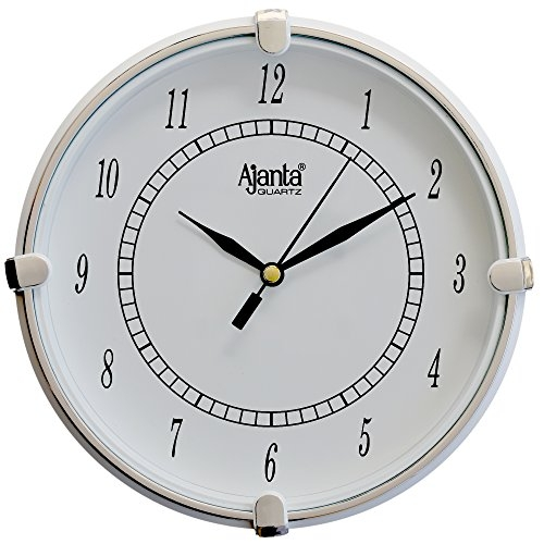Ajanta 7 Inches Wall Clock for Home/Offces/Bedroom/Living Room/Kitchen (Step Movement, Red)