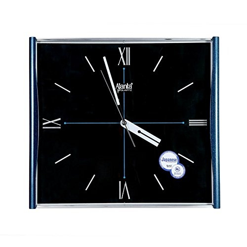 Ajanta Quartz Wall Clock with Square Dail Shape 1937 Blue For Office and Home