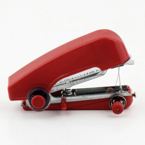 akhi Stapler type Mini Hand-Held Portable Plastic Cordless Clothes Sewing Machine