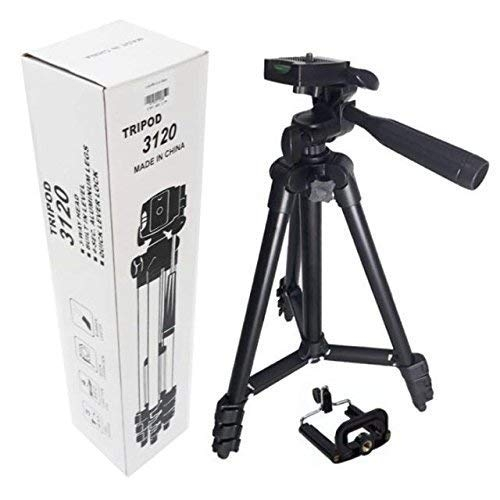 alDivo-3120 Portable and Foldable Camera-Tripod with Mobile Clip Holder Bracket,4 Section Adjustable Travel Tripod (Black) – Best Tripod Online