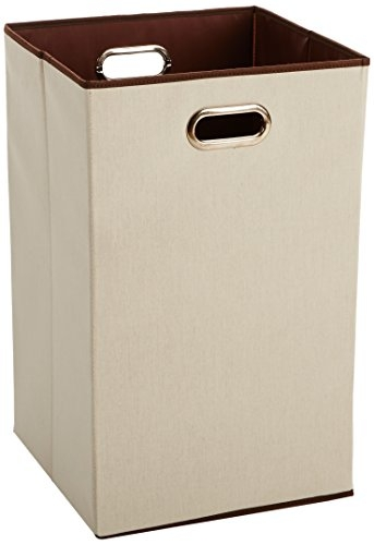 AmazonBasics Foldable Cotton Laundry Hamper