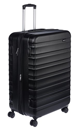 Amazon Basics Luggage | AmazonBasics Hardside Suitcase Set with Wheels, 20″ (50.8 cm) +24″ (61 cm) +28″(71 cm), Black