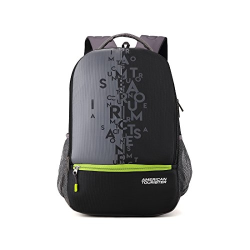 American Tourister 32 Ltrs Black Casual Backpack (AMT Fizz SCH Bag 02 – Black)
