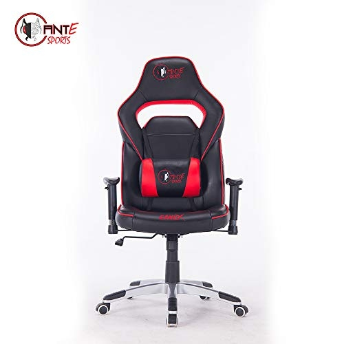 GreenSoul Monster Series Gaming/Ergonomic Chair in Fabric and PU Leather (GS-734) (Black & Blue) (Size- Large)