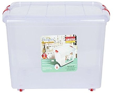Aristo Multipurpose Storage Container Box With Wheels 25 Ltr (White)