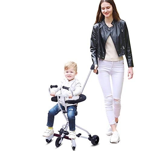 Arkmiido Lightweight Travel Portable Stroller for Baby with Brake and Safety System for Toddler (2-8 Years, White)