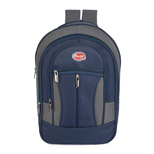 Autofact Classic Style Polyster 30 Ltrs School Bags (Dark Blue)