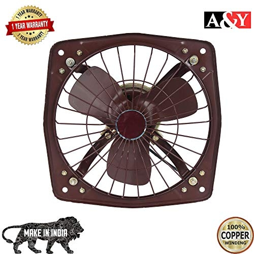 A&Y Copper Shivako Metal Fresh Air Exaust Fan for Kitchen/Bathroom (Black, Blade Size 230 MM/9 Inch)