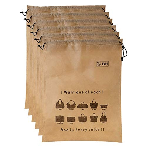 B11 Handbag /Purse Storage Dust Cover Drawstring Bag – Set Of 12 Bags (3 In 1 Size Pack)