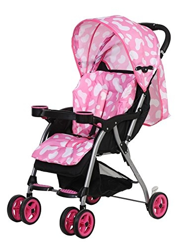 Baby Bird by Equal Comfortable & Lightweight Baby Stroller Pram, Buggy for Kids in Light Pink