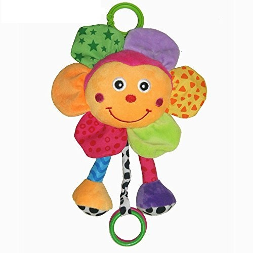 Baby Station Baby / Infant Plush Stuffing Stroller / Pram / Crib Hanging Clip On Teether Musical Rattle Soft Toy 0-3 Year (Sunflower)
