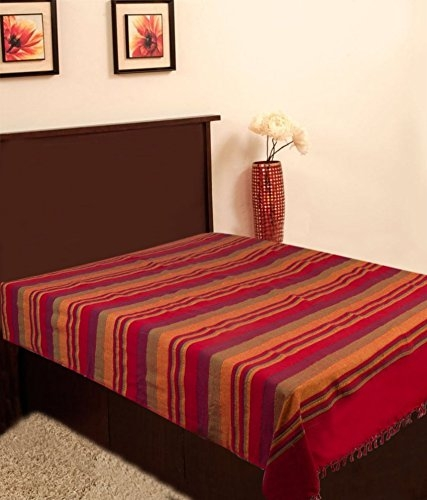 Bed Threads Single Red Bedsheet