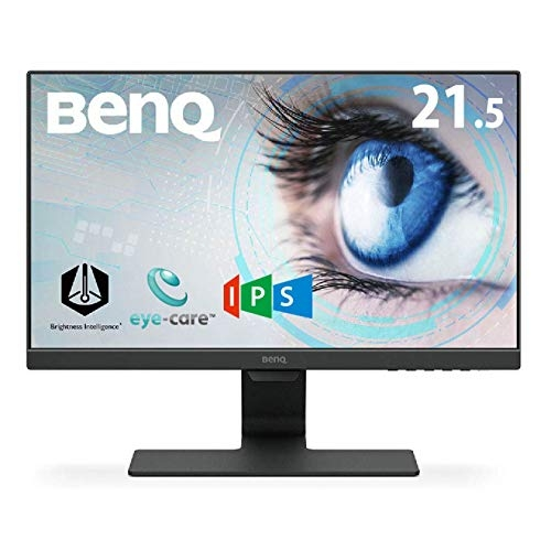 BenQ GW2480 24-inch (60.96 cm) Eye Care Monitor, IPS Panel with VGA, HDMI, Audio in, Headphone Ports and in-Built Speakers, with Adaptive Brightness Technology – M353231 (Black)