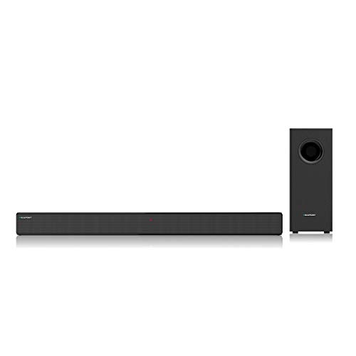 JBL SB110 Powerful Wireless Soundbar with Built-in Subwoofer (110 Watts, 4 Woofers, Dolby Digital Sound)