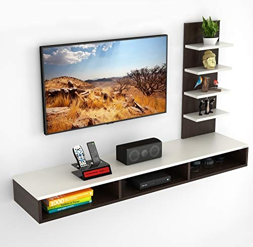 Bluewud Primax TV Entertainment Wall Unit/Set Top Box Stand (Large/Ideal for up to 55″)