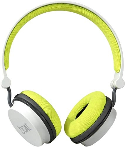boAt Super Bass Rockerz 400 Bluetooth On-Ear Headphones with Mic (Grey/Green) – Boat Super Bass Rockerz Price in India