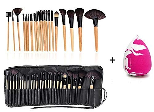 Bobbi Brown Brush Set 24 pcs With Black Leather case