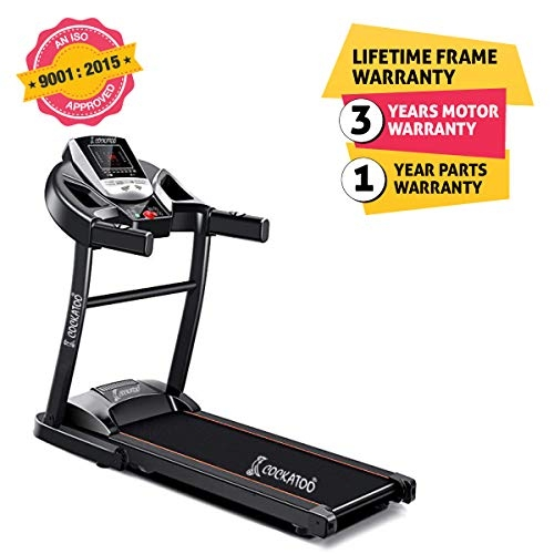 Cockatoo CTM-05 Steel 2 HP Peak Motorised Multi-Function Treadmill(Free Installation Assistance)