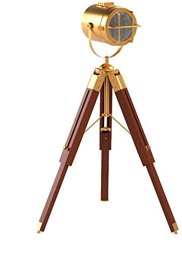 Collectibles Buy Small Desk Lamp Antique Finish Brown Tripod – Best Tripod Online