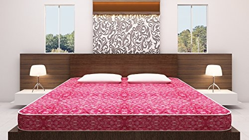 Comfortis Polyester Budget Double Bed Spring Mattress With Two Recron Pillows-Queen Size(6ft X 5.5ft)