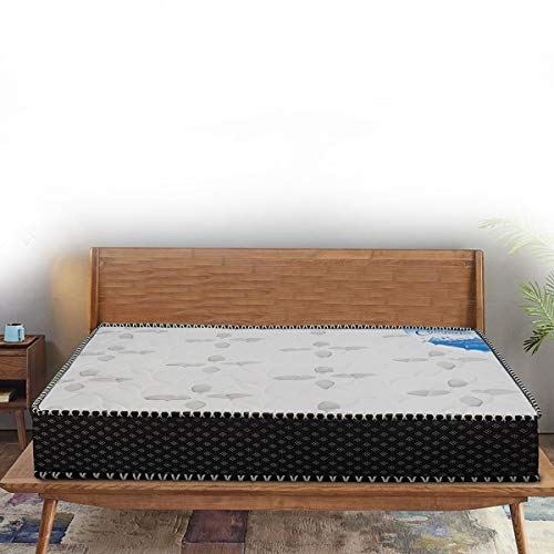 Peps Springkoil Bonnell 6-inch Queen Size Spring Mattress (Dark Blue, 78x60x06) With Two Free Pillow