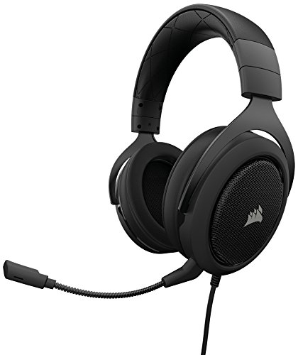 CORSAIR HS50 – Stereo Gaming Headset – Discord Certified Headphones – Works with PC, Mac, Xbox One, PS4, Nintendo Switch, iOS and Android(CA-9011170-AP) – Carbon
