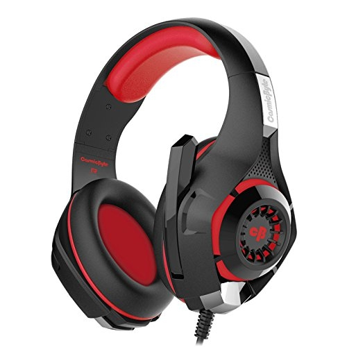 Cosmic Byte GS410 Headphones with Mic (Black/Red)