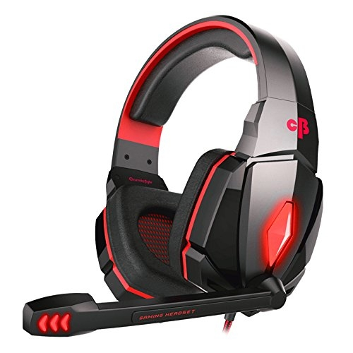 Cosmic Byte Over the Ear Headphone with Mic & LED – G4000 Edition (Red)