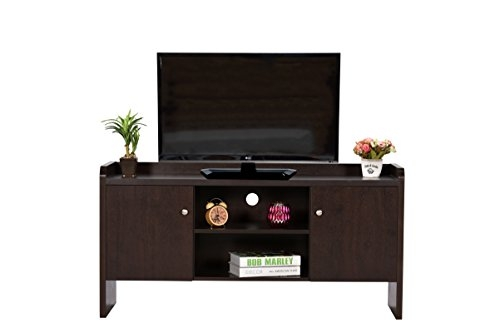 DeckUp Alvo TV Stand and Home Entertainment Unit (Dark Wenge, Matte Finish)
