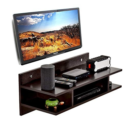 DeckUp Muvo TV Stand and Home Entertainment Unit (Walnut, Matte Finish)