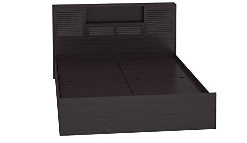 @home by Nilkamal Torrie King Size Engineered Wood Bed with Box Storage (Particle Board – Black)