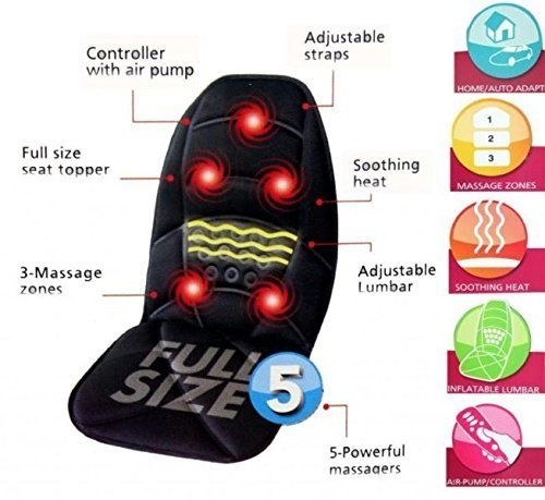 Deziine Seat Back And Neck Massager With Soothing Heat Function