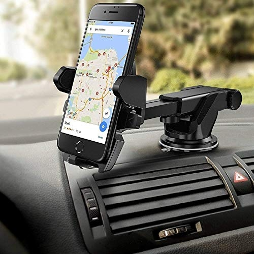 car mobile holder 360 degree rotation – Die Hard Easy Shopping Days Long Neck 360° Rotation with Ultimate Reusable Suction Cup Mobile Holder/Mount for Car Dashboard/Windshield/Desktop (Black)