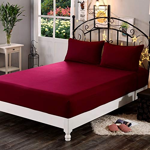 Wakefit Water Proof Terry Cotton Mattress Protector – 78″ x 72″, King Size, Maroon