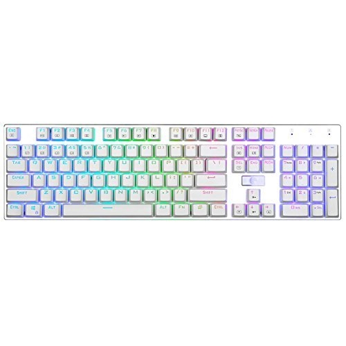 E-Element Z-88 RGB LED Backlit Water-Proof Mechanical Gaming Keyboard with 81 Keys Anti-Ghost keys Blue Switches Black