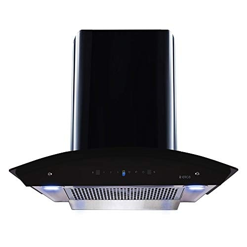 Elica 60 cm 1200 m3/hr Filterless Auto Clean Chimney with Free Installation Kit (WDFL HAC TOUCH 60 MS, Touch + Motion Sensor Control, Black)