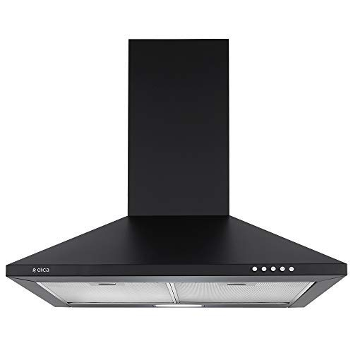 Eurodomo 60 cm 1200 m³/hr Angular Kitchen Chimney (HOOD DIAMOND TC BK 60, Cassette Filter, Touch Control, Black)