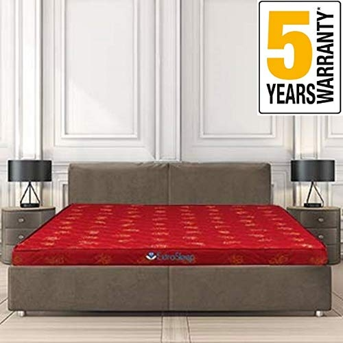 Extra Sleep Coir Mattress 4 Inch Back Support Orthopaedic Care, Cotton Breathable Fabric, Single Size (75x36x4)